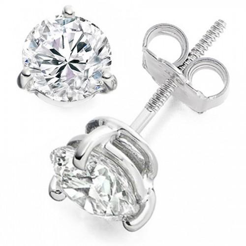 Vashi's 0.50 Carat 18k White Gold Stud Diamond Earrings