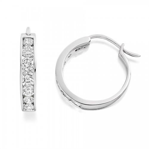 Vashi's 0.50 Carat Diamond Hoop Earrings