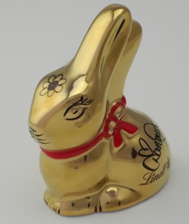 Lindt Gold Porcelain Bunny signed by Danni Minogue