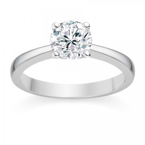Vashi's Round Cut 1.00 Carat Platinum Diamond Engagement Ring
