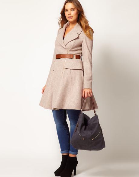 Curve belt coat by ASOS