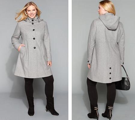 Hood coat by DKNY