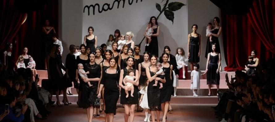 Dolce and Gabbana Celebrate Motherhood at Milan Fashion Week