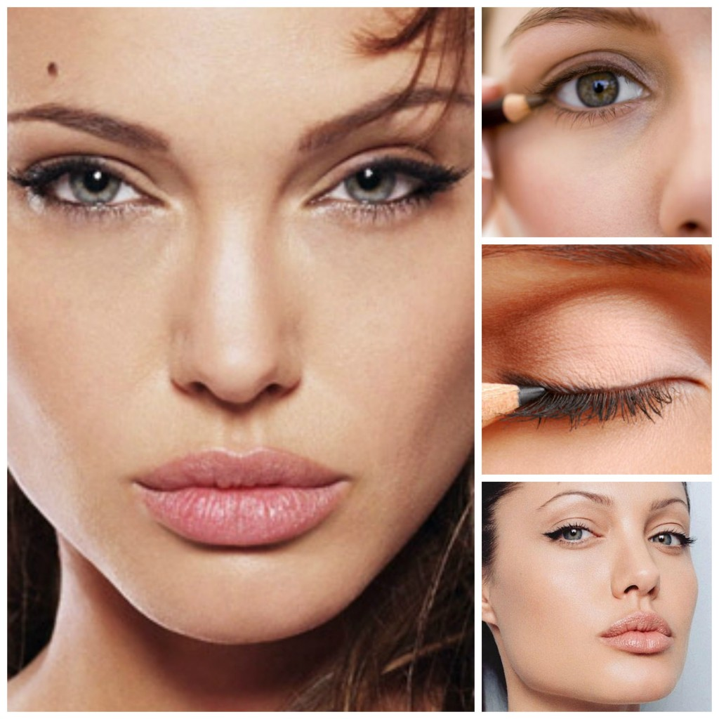 Angelina Jolie makeup by Dee Azlan. Images courtesy of fahv.com, luuux.com and typef.com