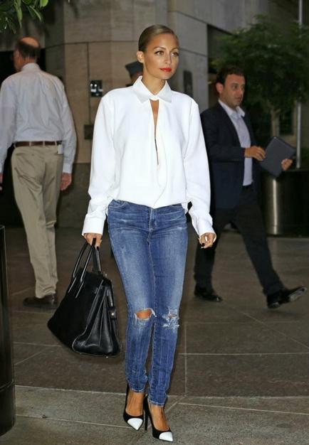 style icon nicole richie fashion  saint laurant